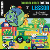 Classroom Poster Lesson Earth Theme Day at the Farm: It's