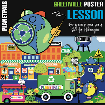 Greenville Lesson Poster Bulletin Board Eco Friendly Earth Theme Learning