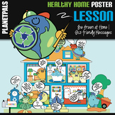 Eco Friendly Lesson Bulletin Board POSTER Be Green at Home