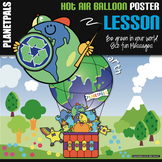 "Earth Bulletin Board Poster Lesson ""Eco Friendly Hot Air Balloon Ride"""