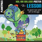 "Earth Bulletin Board Poster Lesson ""Eco Friendly Hot Air B"