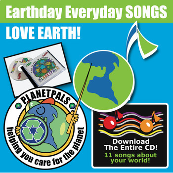 """Planetpals MUSIC CD """"We love the planet, everyone and everything on it"""""""