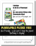 Eco Friendly Planetpals One A Day Pledge Earthday Everyday Lesson