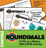 Dot Day, Any Day, Planetpals ROUNDIMALS© Animal Art, Drawing Shapes Activity