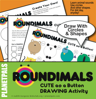 Animal Art Drawing Lesson Shapes Center Activity ROUNDIMALS© Dot Day Any Day