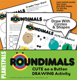 Animal Art Drawing Lesson Shapes Center Activity ROUNDIMAL