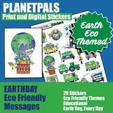 Kids Classroom Stickers Clip Art Set Eco Friendly Earth Th