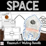 Planet Report and Space Writing Activities Bundle