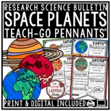 Solar System and Planets Research Project Teach- Go Pennants™