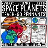 Digital Solar System & Planets Research Teach-Go Pennants