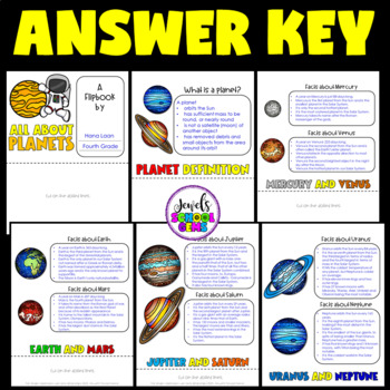 Planets Activities (Solar System Flipbook)