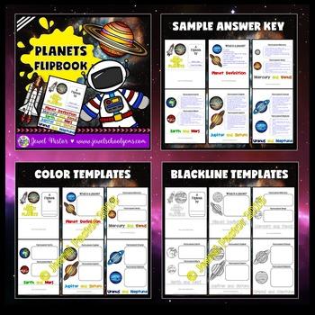 Planets Activities BUNDLE (PowerPoint and Flipbook)