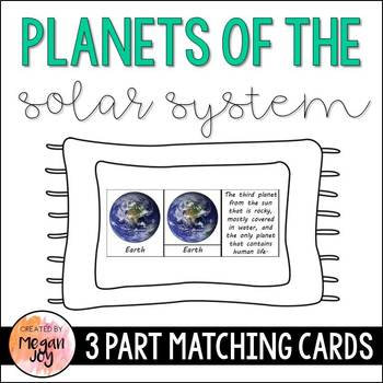 Planets 3 Part Cards