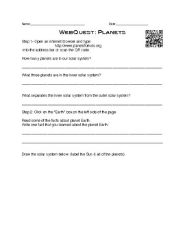 Planets 30 Minute WebQuest