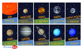 Planets 5x7 Wall Cards or Banner