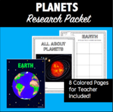 Planets- A Color and Write Research/Inquiry Packet #1