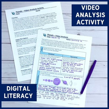 Planets ALL-IN-ONE Lesson   PowerPoint, Notes, Digital Literacy Activity & More