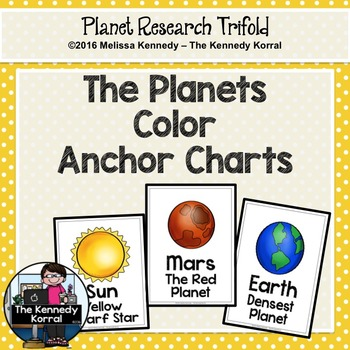 Planets Anchor Charts {Space Research, Planets, Solar System}