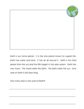 Planets Non Fiction Book K - 3