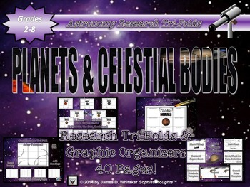 Planets & Celestial Bodies of the Solar System Mega Activity Bundle