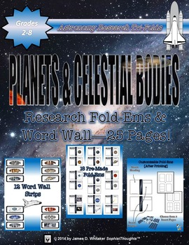 Planets & Celestial Bodies of the Solar System Research Fold-Ems