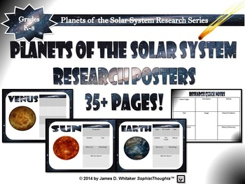 Planets & Celestial Bodies of the Solar System Research Posters