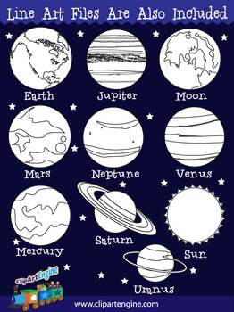 Planets Clip Art Collection