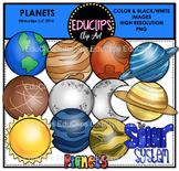 Planets Clip Art Bundle {Educlips Clipart}