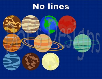 Planets Clip Art ~ Sun and Moon