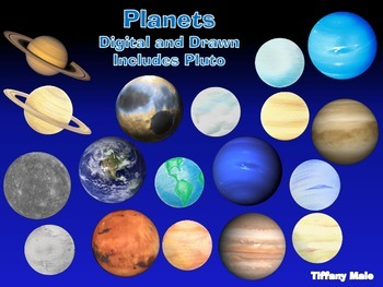 Planets Clip art Digital and Drawn