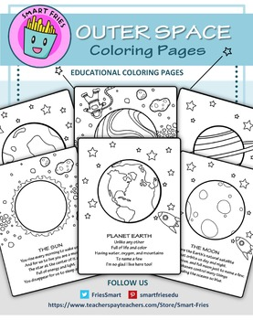 Outer Space: 34 educational coloring pages