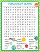 Planets Activities Crossword Puzzle and Word Search Find