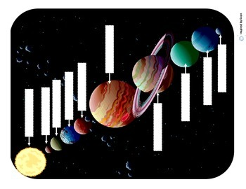 Planets and Our Solar System Cut and Paste/Label/Sequence/Flashcards for Autism