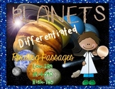 Planets Informational & Nonfiction Text & Comprehension Assessments