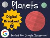 Planets - Digital Breakout! (Escape Room, Scavenger Hunt, Brain Break)