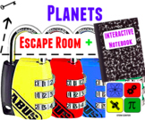 Planets Escape Room and Solar System Interactive Notebook
