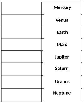 Planets Flip Book