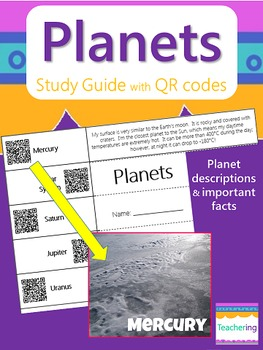 Planets Study Guide with QR Codes