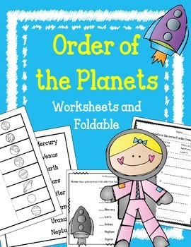 Planets Foldable and Worksheets. Order of Planets.  Intera