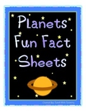 Planets Fun Facts Sheets