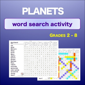 Planets - Introduction * WordSearch * Vocabulary* Warm Up * Bell Ringer *