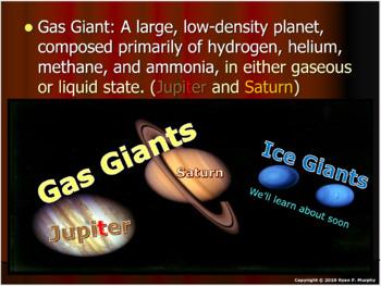 Outer Planets Lesson, Jupiter, Saturn, Uranus, Neptune