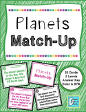 Planets Matching Activity Game