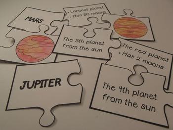 Planets Matching Puzzle Game