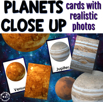 Planets Matching and Close Up Cards for Science Centers or Montessori Activities