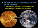 Planets Lesson, Mercury, Venus, Earth, Mars
