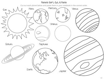 Planets and Moon Phases Interactive Notebook