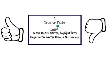 Planets, Moon Phases, and Seasons True or False Task Cards