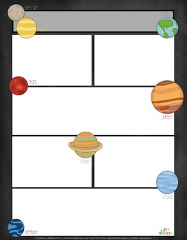 Planets Newsletter For Word