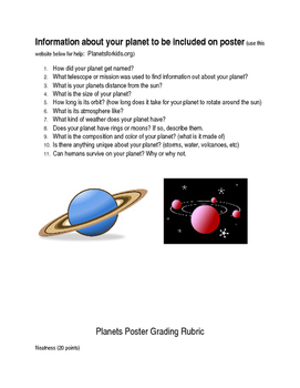 Planets Poster Project